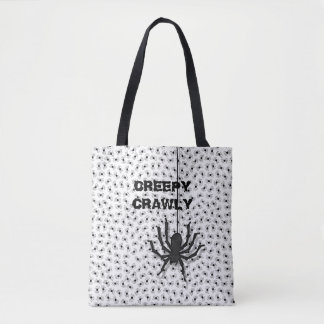 Creepy Crawly Huge Halloween Spider Pattern Tote Bag