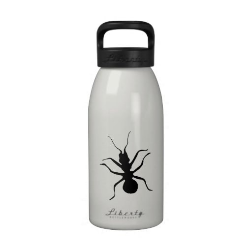 Creepy Crawly Marching Black Ant Plaid Tablecloth Reusable Water Bottle