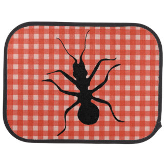 Creepy Crawly Marching Black Ant Plaid Tablecloth Car Mat