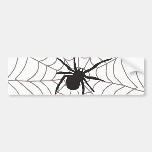 Creepy Crawly Spider Bumper Sticker