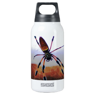 Creepy Crawly Spider on the Web Insulated Water Bottle