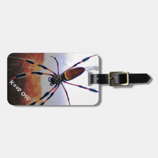 Creepy Crawly Spider on the Web Luggage Tag