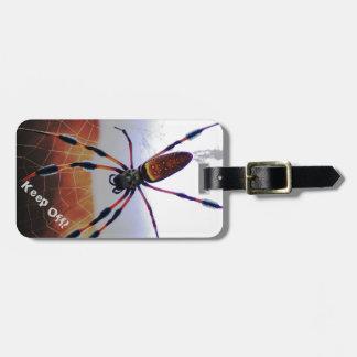 Creepy Crawly Spider on the Web Luggage Tag