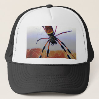 Creepy Crawly Spider on the Web Trucker Hat