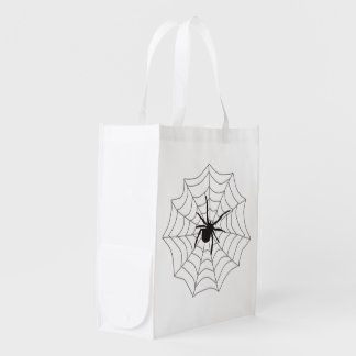 Creepy Crawly Spider Reusable Grocery Bag