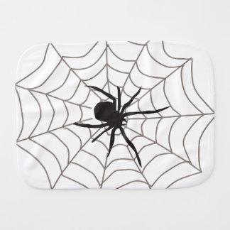 Creepy Crawly Spider Baby Burp Cloths