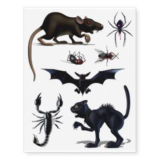 Creepy Creatures Temporary Tattoos