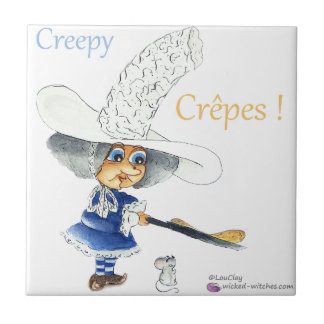 Creepy Crepes Wicked Witches Ceramic Tile