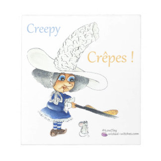 Creepy Crepes Wicked Witches Note Pad