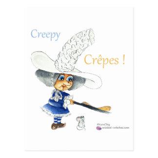 Creepy Crepes Wicked Witches Tarjetas Postales