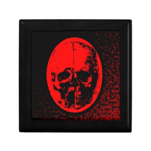 Creepy Crimson Skull Jewelry Box