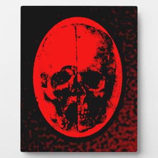 Creepy Crimson Skull Photo Plaques