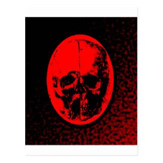 Creepy Crimson Skull Postcard