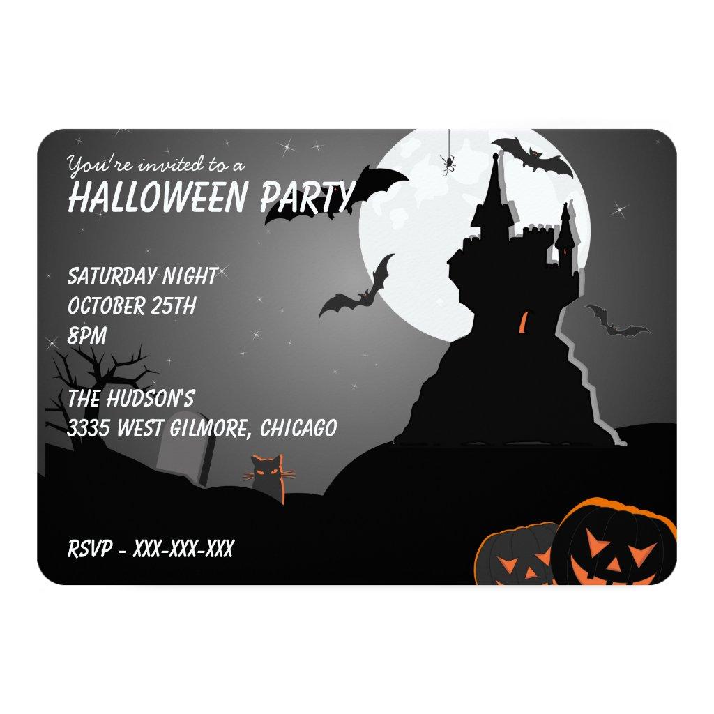 Creepy Csstle and Bats Card