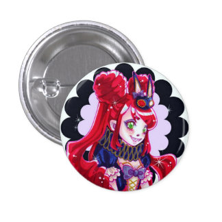 Creepy, Cute CMonster Pinback Button