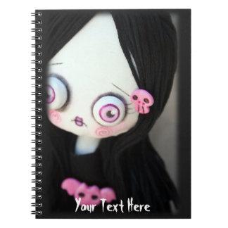 Creepy Cute doll Halloween Notebook