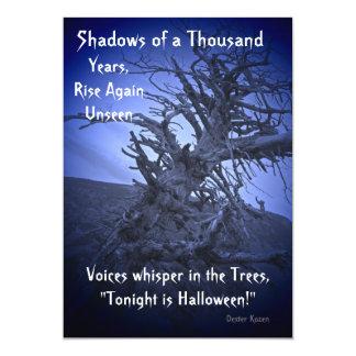 Creepy Dark Spooky Tree Halloween Party Invitation