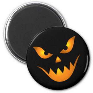Creepy demon face Halloween magnets