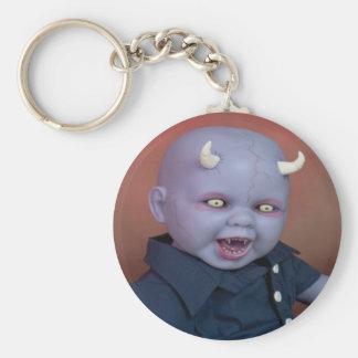 Creepy Devil Baby Doll Basic Round Button Keychain