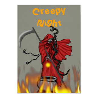 Creepy Dinner 5x7 Paper Invitation Card