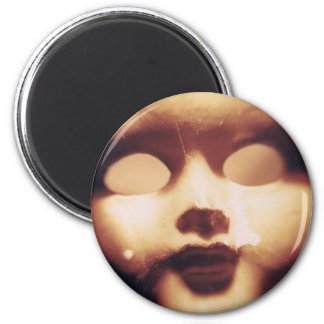 Creepy Doll 2 Inch Round Magnet
