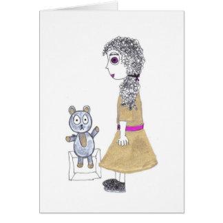 creepy doll stationery note card