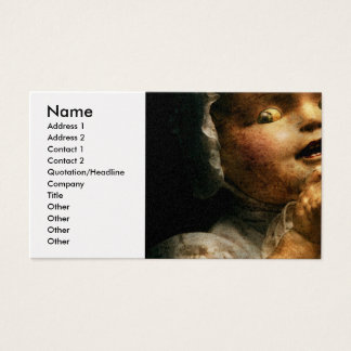 Creepy - Doll - Come play with me Business Card