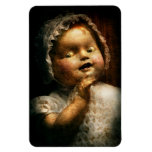 Creepy - Doll - Come play with me Rectangular Magnet