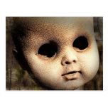 Creepy Doll Head with Missing Eyes Postcard