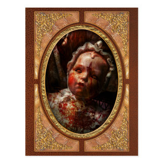 Creepy - Doll - It's best to let them sleep Postcard