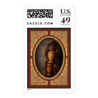 Creepy - Doll - Matilda Postage Stamp