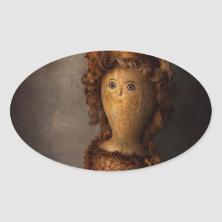 Creepy - Doll - Matilda Oval Stickers