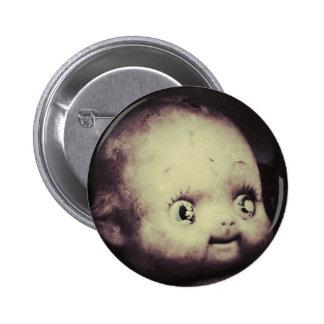 Creepy Doll Pinback Button
