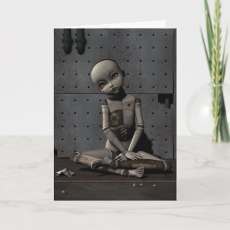 Creepy Doll Zelda - Greeting Card card