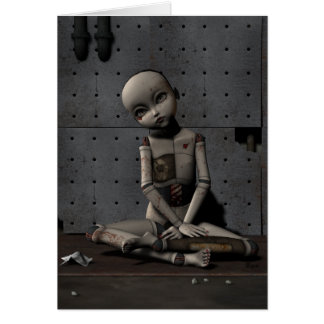 Creepy Doll Zelda - Greeting Card