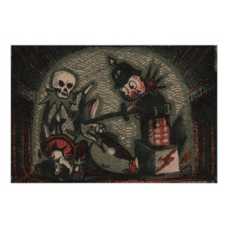 Creepy dolls: evil jack-in-the-box skeleton bully poster