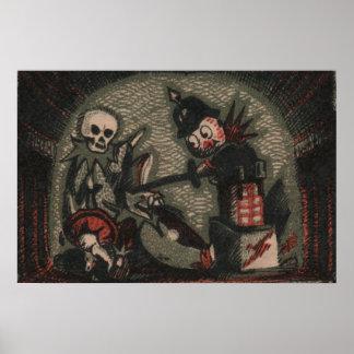 Creepy dolls: evil jack-in-the-box skeleton bully poster