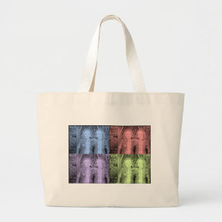Creepy Dolly Twins Large Tote Bag