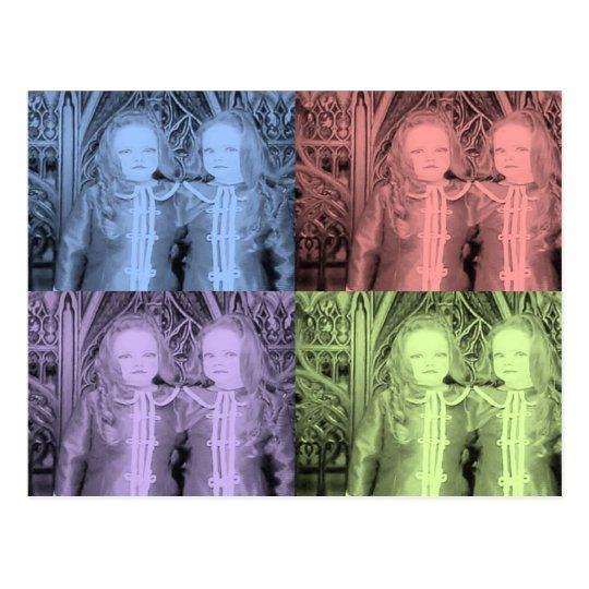 Creepy Dolly Twins Postcard