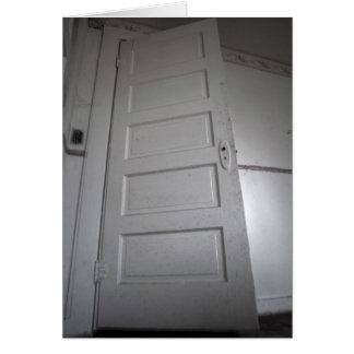 creepy door card
