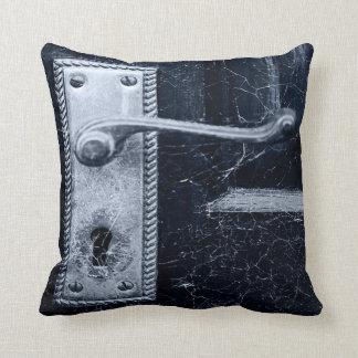 Creepy Door Handle Throw Pillow