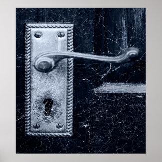 Creepy Door Handle Poster