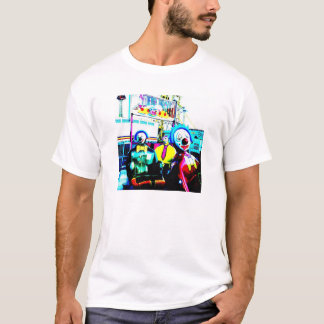 Creepy Drunk Clowns Carnival Ride Clownin' Around T-Shirt