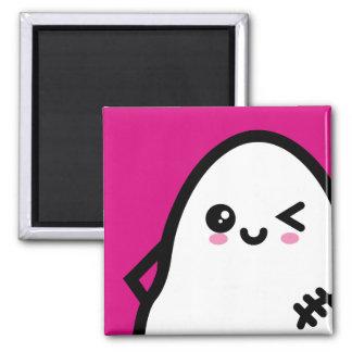 Creepy Egg Ghost - Halloween Magnet