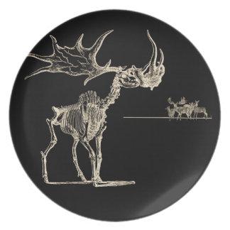 Creepy Elk Skeleton with Deer Animal Bones Party Plates