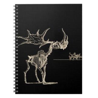 Creepy Elk Skeleton with Deer Animal Bones Spiral Notebook