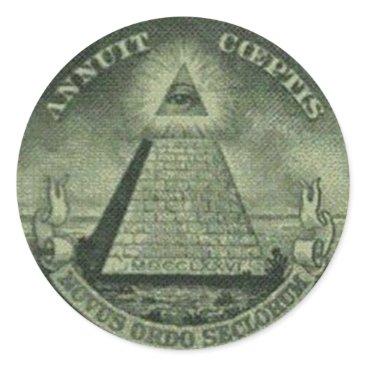 USA Themed Creepy Eye Classic Round Sticker
