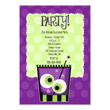 Creepy Eye Cocktail Adult Costume Party Invitation