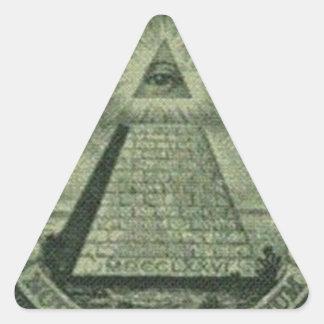 Creepy Eye Triangle Sticker