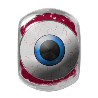 Creepy Eyeball Halloween Candy Bar Supplies Glass Candy Jar